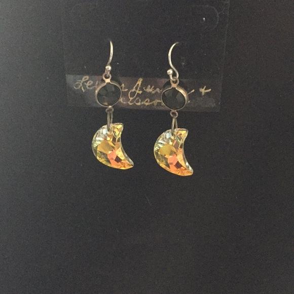 e08f9e54a Custom Made Jewelry | Beautiful Swarovski Crystal Half Moon Earrings ...